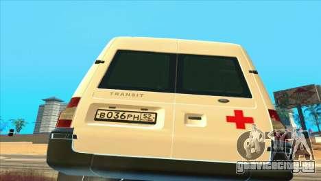 Ford Transit Скорая Помощь для GTA San Andreas вид справа