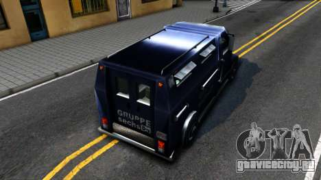 VC Security Car для GTA San Andreas вид сзади