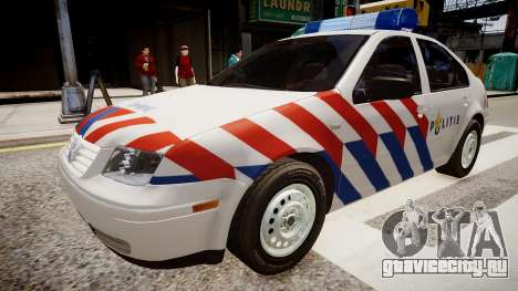 Volkswagen bora police для GTA 4 вид справа