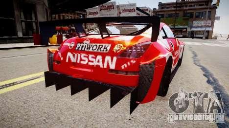 Nissan 350Z JGTC Motul Pitwork для GTA 4 вид сзади слева