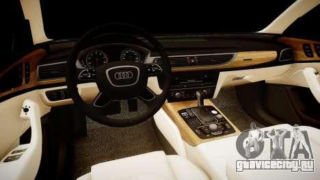 Audi A6 2012 Style для GTA 4 вид изнутри
