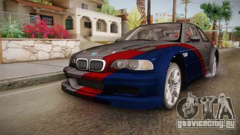 NFS: MW - BMW M3 GTR (E46) Hidden Vinyl Version для GTA San Andreas