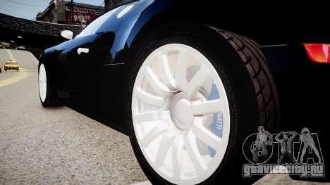 Bugatti Veyron 16.4 2009 v.2 для GTA 4 вид сзади