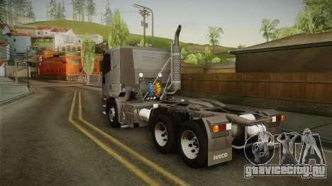 Iveco EuroTech 400E34 Tractor 6x4 v3.1 Final для GTA San Andreas вид слева