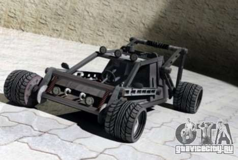 Off Road Car для GTA San Andreas вид изнутри