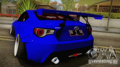 Subaru BRZ 2013 Rocket Bunny Slammed для GTA San Andreas вид сзади