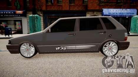 Fiat Uno Way 17 Fixa для GTA 4 вид слева