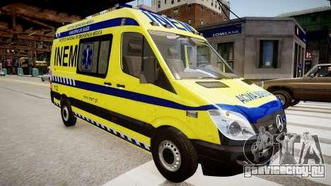 INEM Ambulance для GTA 4 вид справа