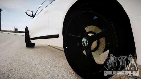 Volkswagen Scirocco Mk.III '08 Tune Final для GTA 4 вид сзади