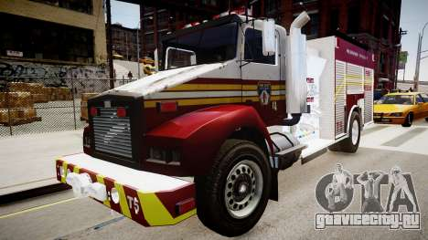 Новая пожарная машина T5 для GTA 4 вид справа