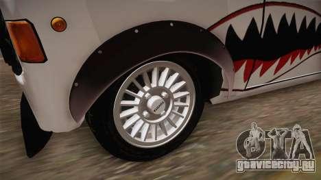Zastava 1100 Shark для GTA San Andreas вид сзади