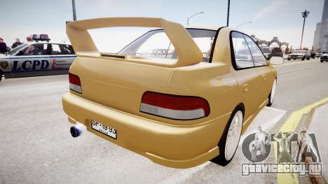 Subaru Impreza GC8 JDM Spec для GTA 4 вид сзади слева