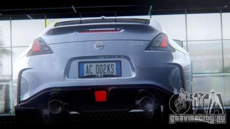 Nissan 370Z Nismo 2016 EU Plate для GTA San Andreas вид справа