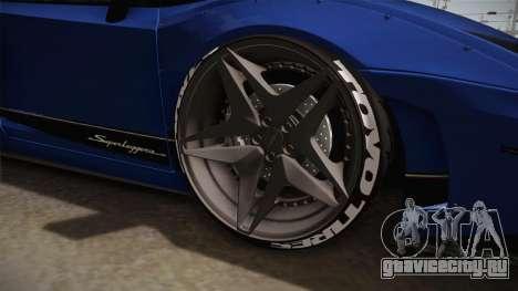 Lamborghini Gallardo Superleggera для GTA San Andreas вид сзади