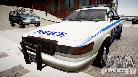 Police Cruiser [ELS] для GTA 4 вид справа