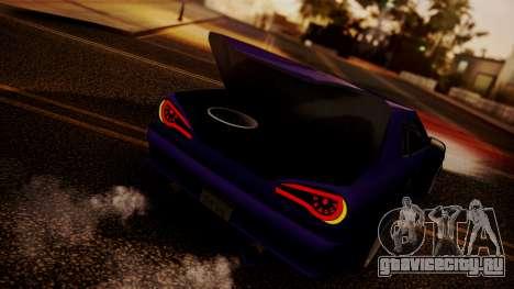 Elegy Hellcat 2.0 для GTA San Andreas вид изнутри