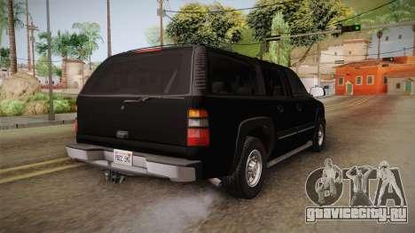 Chevrolet Suburban Z71 FBI для GTA San Andreas вид справа