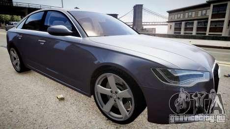 Audi A6 2012 Style для GTA 4 вид справа