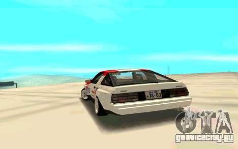 Mitsubishi STARION для GTA San Andreas вид сзади слева