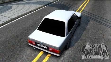 BMW 325i E30 для GTA San Andreas вид сзади