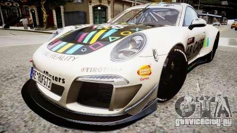 Porsche 911 GT3 Project CARS для GTA 4 вид справа