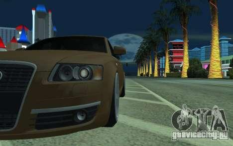 Audi A6 STANCE для GTA San Andreas вид сзади слева