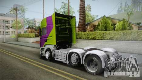 Scania R620 Malaysia Airlines для GTA San Andreas вид слева