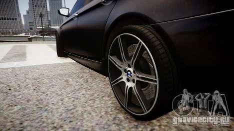 BMW M5 F10 Autovista для GTA 4 вид сзади
