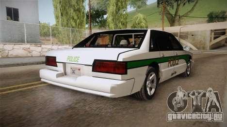 Declasse Premier 1993 Angel Pine Police для GTA San Andreas вид сзади слева