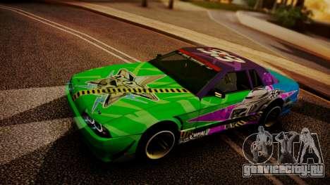Elegy Hellcat 2.0 для GTA San Andreas вид сверху