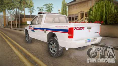 Dodge Ram 2008 Union Pacific Railroad PD для GTA San Andreas вид слева