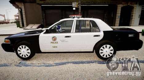 Ford Crown Victoria LAPD для GTA 4 вид слева