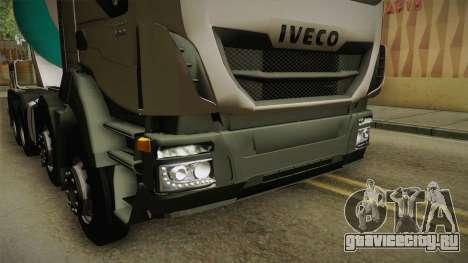 Iveco Trakker Hi-Land Cement Mixer 8x4 v3.0 для GTA San Andreas вид сбоку