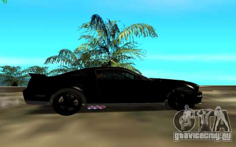 Ford Mustang Custom для GTA San Andreas вид сзади слева