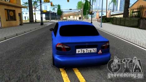 Daewoo Lanos V3 для GTA San Andreas вид сзади слева