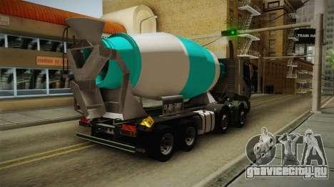 Iveco Trakker Hi-Land Cement Mixer 8x4 v3.0 для GTA San Andreas вид сзади слева