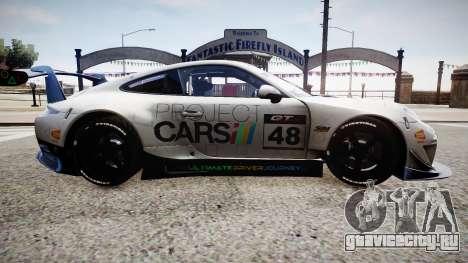 Porsche 911 GT3 Project CARS для GTA 4 вид сзади слева