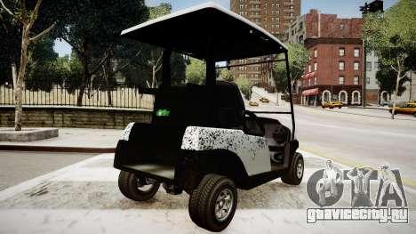 Golf Car - New Logo для GTA 4 вид сзади слева