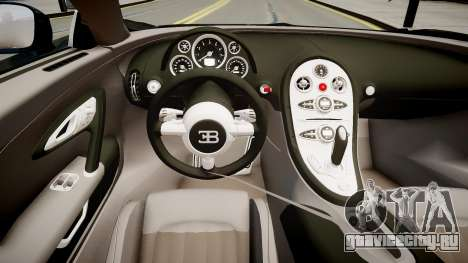 Bugatti Veyron 16.4 2009 v.2 для GTA 4 вид изнутри