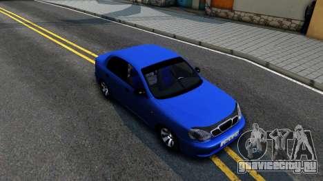 Daewoo Lanos V3 для GTA San Andreas вид справа