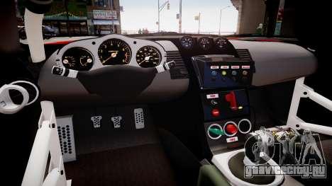 Nissan 350Z JGTC Motul Pitwork для GTA 4 вид изнутри