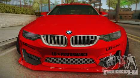 BMW M4 Liberty Walk для GTA San Andreas вид справа