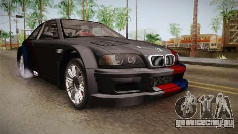 NFS: MW - BMW M3 GTR (E46) Hidden Vinyl Version для GTA San Andreas вид справа