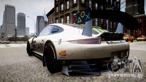 Porsche 911 GT3 Project CARS для GTA 4 вид слева