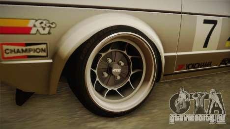 Volkswagen Golf Mk1 GTI для GTA San Andreas вид сзади