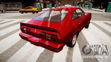 FORD Mustang King Cobra 1978 для GTA 4 вид сзади слева