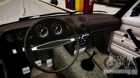 Ваз 2106 Stock для GTA 4 вид изнутри