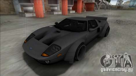 2005 Ford GT Rocket Bunny для GTA San Andreas вид сзади слева