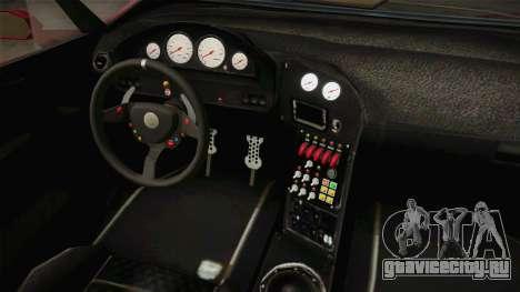 GTA 5 Pegassi Lampo Roadster для GTA San Andreas вид изнутри