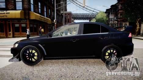 Mitsubishi EVO IX 2009 для GTA 4 вид слева